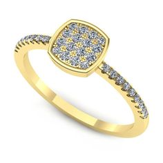 Inelul este format din:   * Piatra principala: 16 x diamant, dimensiune: ~1.30mm, greutate totala: ~0.16ct, forma: round; * Pietre secundare: 18 x diamant, dimensiune: ~1.00mm, forma: round Aur, Bracelets, Gold, Jewelry, Fashion, Bangle Bracelets, Jewellery Making, Moda, Jewerly