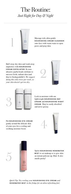 The order in which to apply skin care products