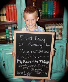 First Day of Kindergarten!!