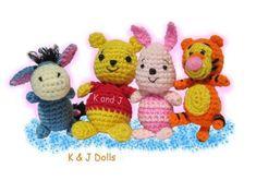 Winnie the Pooh, Tigger, Piglet, Eyore crochet amigurumi from Little Gang - CROCHET