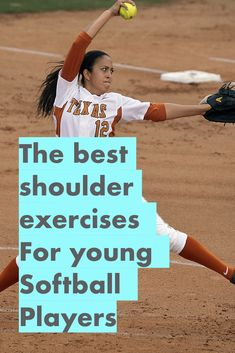 Learn these five strength training exercises for shoulder health, throwing velocity and pitching speed. Any softball player can quickly learn these workouts for softball and improve her game immediately. Softball Crafts, Softball Bows, Softball Coach, Softball Quotes, Girls Softball, Fastpitch Softball, Softball Players, Softball Stuff, Softball Bracelet