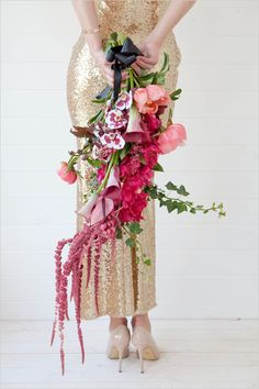 cascading bouquet @weddingchicks