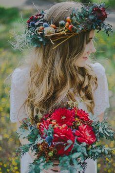 Le bouquet coloré de la mariée / Bridal bouquet