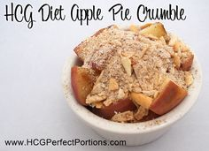 Apple Pie recipe for HCG Can you believe your eyes! This HCG recipe is amazing and safe for Phase 2 of the HCG Diet!When I lose enough weight I will try this. Hcg Diet Recipes, Apple Pie Recipes, Low Carb Recipes, Cooking Recipes, Hcg Meals, Healthy Recipes, Atkins Recipes, Nutribullet Recipes, Cooking 101