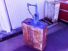 Original 76 Gas Station Auto Shop Unrestored Oil Dispenser Machine  #76GasStation