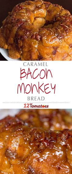 Caramel Bacon Monkey Bread | For this unique version we added maple, caramel, and bacon – yep, that's right, bacon – making this dish that much better for a morning brunch!