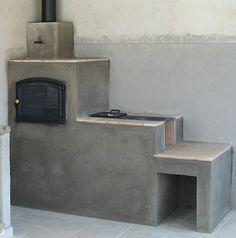 Imagem de Fogão a Lenha em Alvenaria com Forno