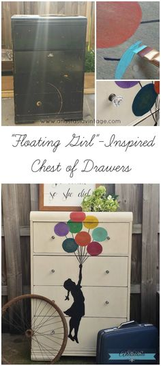 """""""Floating Girl"""" Inspired Chest of Drawers {The Fab Furniture Flippin' Contest} 
