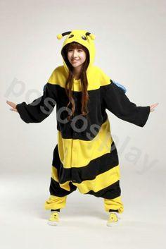 KIGURUMI Animal Pajamas Pyjamas Costume Onesie Adult / Kid SLOTH-bee. $69.99, via Etsy.
