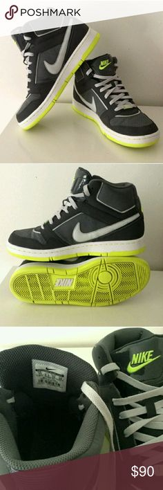 Nike // Neon & Grey Dunks Sneakers Size 11. Worn very lightly (maybe 3 times) and in excellent condition!  ABSOLUTELY NO:  trades lowball offers negotiating in comments Nike Shoes Sneakers