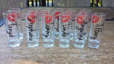 Hey, I found this really awesome Etsy listing at http://www.etsy.com/listing/162486107/bridesmaids-shot-glasses-bachelorette