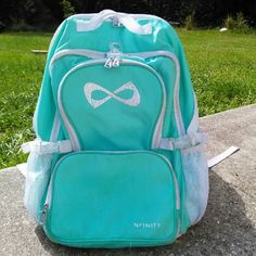 Nfinity Princess Teal Cheer Backpack|NoLessThan$70 New Teal Nfiniy Cheer Backpack. This backpack was bought on Amazon in Feb. 2016, but it is hardley ever used. You can adjust the straps for kids and adults. Great for cheerleading competitions. Will hold all of your stuff; shoes, laptop, clothes, school supplies, water bottles and more! This backpack is held in a smoke free, animal free household. This backpack also has a durable bottom which allows it to stand by itself. Their is also…
