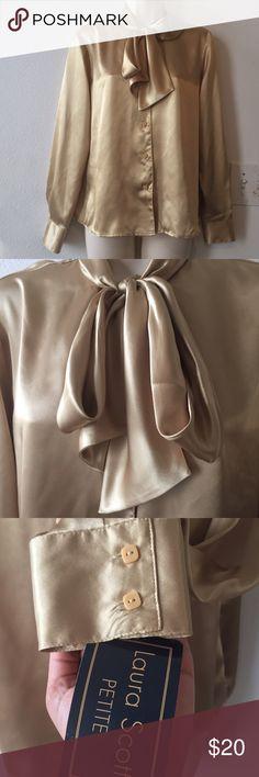 NWT Laura Scott Career Blouse Size 12p 100 percent polyester Machine washable Laura Scott Tops Blouses