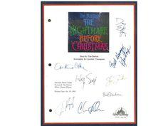 The Nightmare Before Christmas Movie Signed Script Autographed Tim Burton, Henry Selick, Danny Elfman, Chris Sarandon, Catherine O'hara
