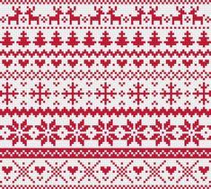 Modern Cross Stitch Patterns, Cross Stitch Borders, Cross Stitch Charts, Cross Stitch Designs, Cross Stitching, Fair Isle Knitting Patterns, Knitting Charts, Loom Patterns, Christmas Knitting