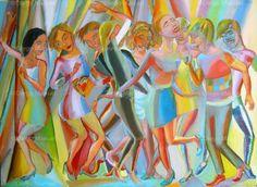 """""""El baile 8 """", acrylic on canvas, 95 x 130 cm,2012 Price of original painting: inquire"""