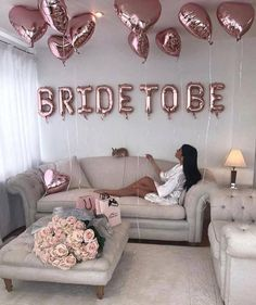 Party decorations for the bride to be