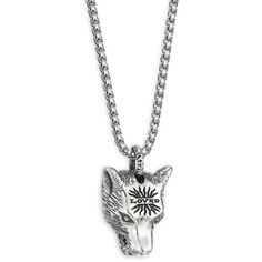 Gucci Silver Wolf Pendant Necklace ($410) ❤ liked on Polyvore featuring men's fashion, men's jewelry, men's necklaces, mens wolf necklace, gucci mens necklace, mens wolf pendant, mens pendants and mens watches jewelry