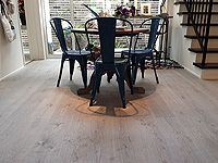施工事例集 - AD WORLD Timberwise Oak Vintage LEVI, sanded wax oiled floor in Nishinomiya, Japan. Dining Chairs, Dining Table, Closer To Nature, Wooden Flooring, Vintage Levis, Around The Worlds, Floors, House, Japan