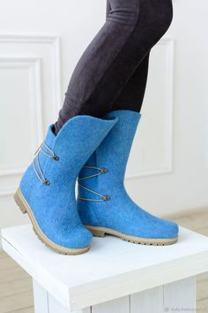 High Heel Boots, Heeled Boots, Shoe Boots, Wool Shoes, Leather Shoes, Boot Over The Knee, Felt Boots, Fancy Shoes, Felted Slippers