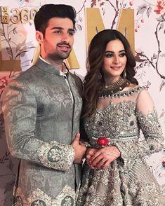 Aineeb all time fav couple Bridal Mehndi Dresses, Pakistani Wedding Dresses, Pakistani Dress Design, Pakistani Outfits, Bridal Outfits, Wedding Couple Poses, Couple Shoot, Wedding Sherwani, Muslim Brides