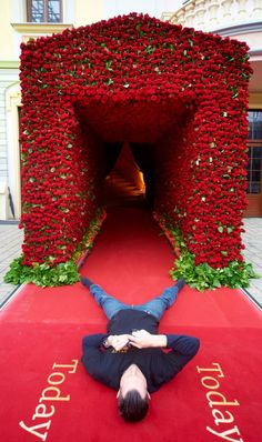 Wow! This is quite grand... but I do LOVE the idea of creating a fabulous entrance for the gala... perhaps with red curtains/Red Carpet..