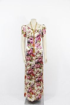 Gorgeous 1940s Long Dress  Full Length by VintageFrocksOfFancy, $320.00