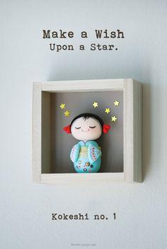 joojoo: Miniature Kokeshi doll . Hoshiko