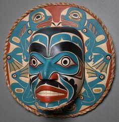 Frog Moon by artist Randy Stiglitz (Salish) - Northwest Coast Mask Arte Inuit, Arte Haida, Inuit Art, Totems, Native American Masks, Ceramic Mask, Native Design, Mexica, Masks Art