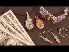 I Make $3,000 in ONE DAY with Wire Wrapping!!! - LIVE - YouTube Wire Jewelry Designs, Beads And Wire, Wire Wrapping, Wraps, Tutorials, Drop Earrings, Live, Videos, Youtube