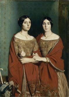 Théodore Chassériau Les 2 soeurs 1843 Musée du Louvre, Paris