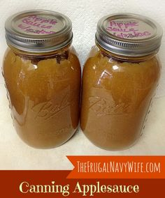 Canning Applesauce - The Frugal Navy Wife