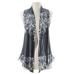 Silver Scroll Vest - New Age & Spiritual Gifts at Pyramid Collection