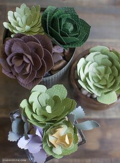 Four Paper Succulent Tutorials and Patterns   Win a Cricut Explore!