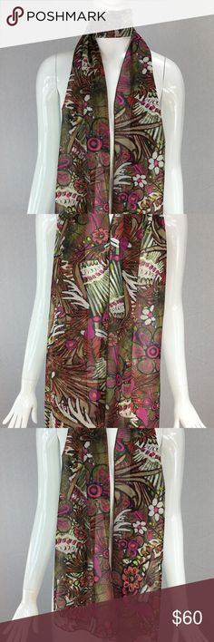 Janet Deleuse Designer Silk Scarf Janet Deleuse Couture Collection New! Never sold, never worn 100% silk scarf Limited to 3 production Made in USA Janet Deleuse Accessories Scarves & Wraps