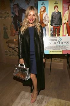 Sienna Miller attends The Weinstein Company and Lyft host a special screening of '3 Generations' on April 30 2017 in New York City