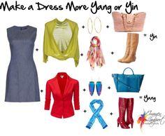 Make a dress more yin or yang