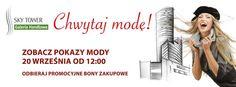Pomysł na sobotę?   Pokaz mody w Sky Tower - startujemy już o godz. 12:00. http://galeria.skytower.pl/pokaz-mody-w-sky-tower.html  Zakupy?  Pamiętajcie, że w Sky Tower czekają na Was bony zakupowe http://galeria.skytower.pl/bony-zakupowe.html  Życzymy miłego weekendu