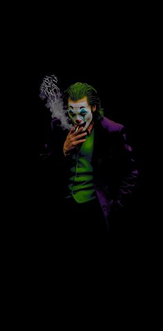 Backgrounds for OLED phones, mainly black for screen power saving and contrast. Batman Joker Wallpaper, Joker Iphone Wallpaper, Smoke Wallpaper, Iphone Wallpaper Images, Joker Wallpapers, Marvel Wallpaper, Animes Wallpapers, Joker Images, Joker Pics