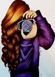 Si hoy no sabes que ponerte, ponte feliz Colored Pencil Artwork, Color Pencil Art, Amazing Drawings, Amazing Art, Pinstriping Designs, Girly M, Cute Girl Wallpaper, Cartoon Wallpaper, Girly Drawings