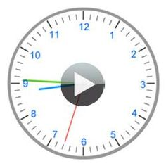 An interactive clock to learn telling time: une horloge interactive pour apprendre l'heure