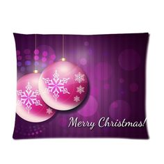 Merry Christmas Perfect Home Decoration Gift Custom Picture Pillow Case 20x26 one side -- Click image for more details.