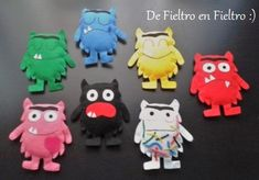 De Fieltro en Fieltro: MONSTRUOS Crochet Monsters, Colors And Emotions, Mindfulness For Kids, Diy Games, Activities For Kids, Projects To Try, Quilts, Education, Sewing