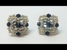 FREE Beading Tutorial ___ Small Motif Earrings _ Orecchini Pétit (DIY - Pétit Earrings) - YouTube