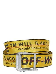 OFF-WHITE Tie Down Webbing Belt, Yellow. #off-white #belts