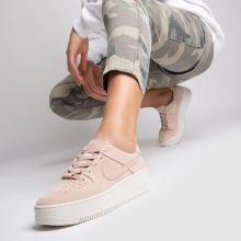 nike air force pale pink
