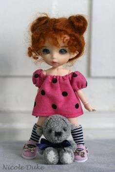 cutie doll -in love with her hair...