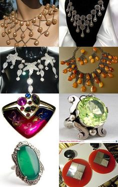 Go Bold & Make a Statement! Click to see all 16 Bold Statement Vintage Jewelry for a Wow Wednesday!
