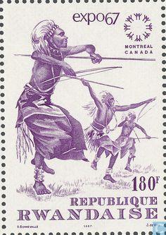 Postage Stamps - Rwanda - Expo Montreal