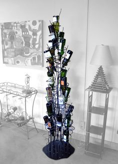 Wine Tree - Kitchen & Dining - Home & Office - Yanko Design Wine Tree, Techno, Wine Rack Design, Vides, Yanko Design, Wine Storage, Storage Ideas, Wine Cellar, Pretty Cool